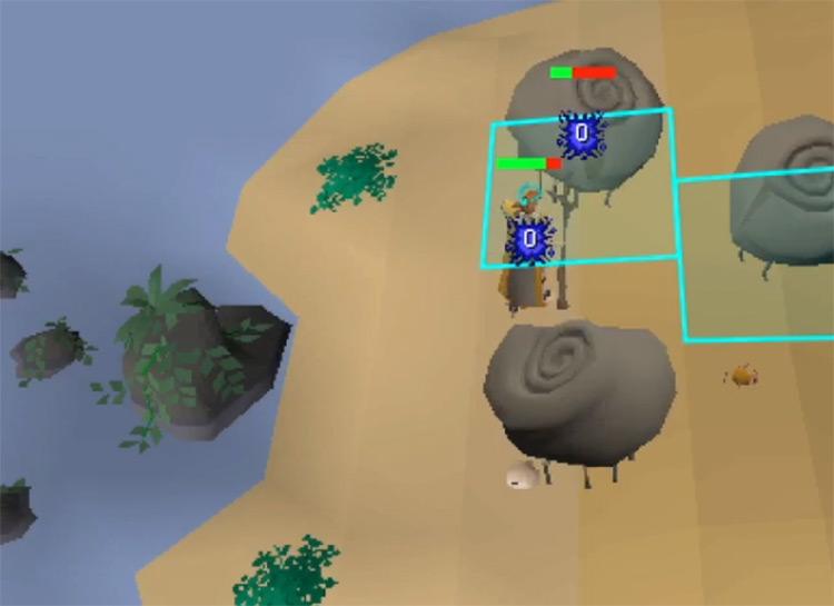 Battle Ammonite crabs screenshot in OSRS