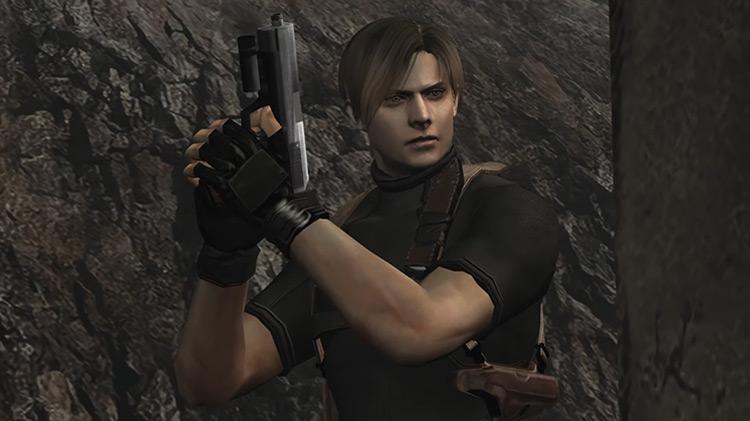 Leon Scott Kennedy RE4 game screenshot