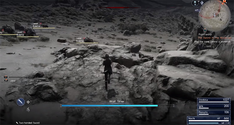 Wait Mode preview screenshot from FFXV