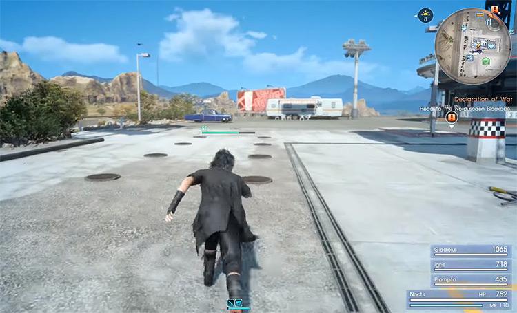 Sprinting in FFXV screenshot