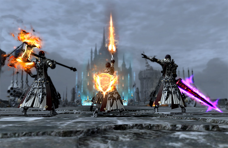 All tank anima weapons in FFXIV