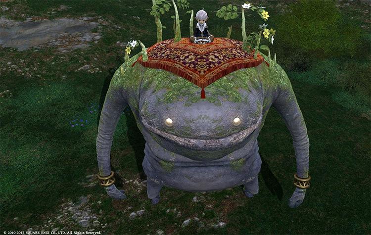 Goobbue mount in Final Fantasy XIV