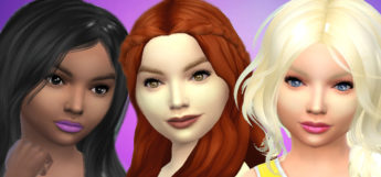 Child makeup preview CC set for The Sims 4