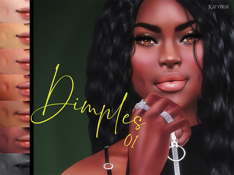Dimples 01 CC Set for The Sims 4