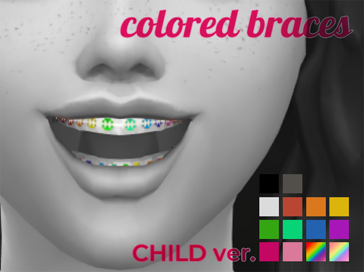 Colored Braces / Sims 4 CC
