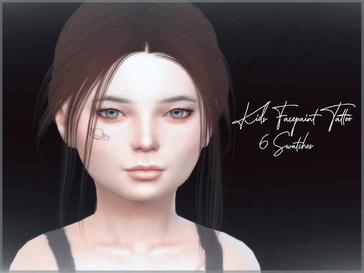 Kids Facepaint Tattoo V1 / TS4 CC