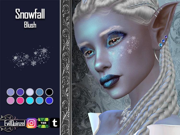 Snowfall Blush / Sims 4 CC