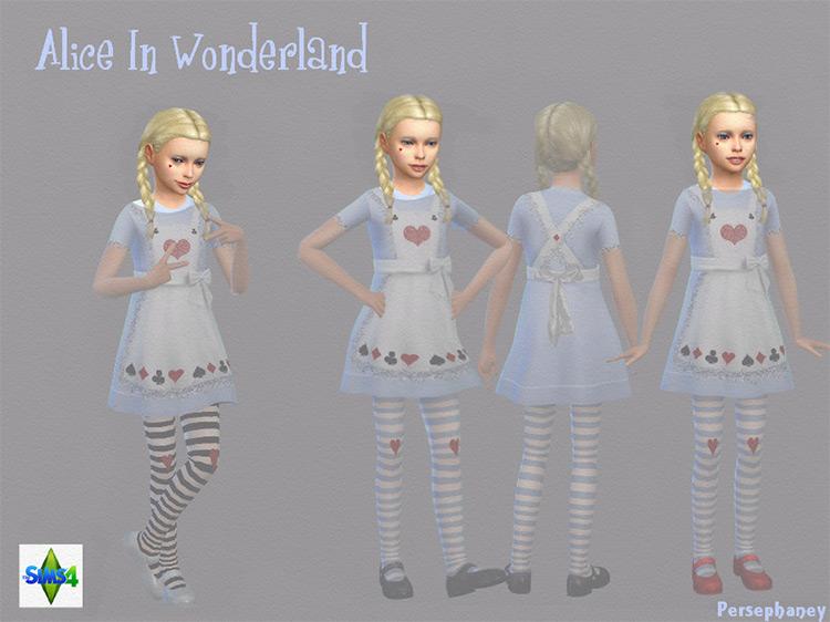 Alice in Wonderland Children Face / TS4 CC