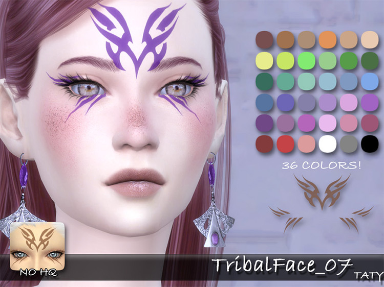 Tribal Face Makeup for The Sims 4