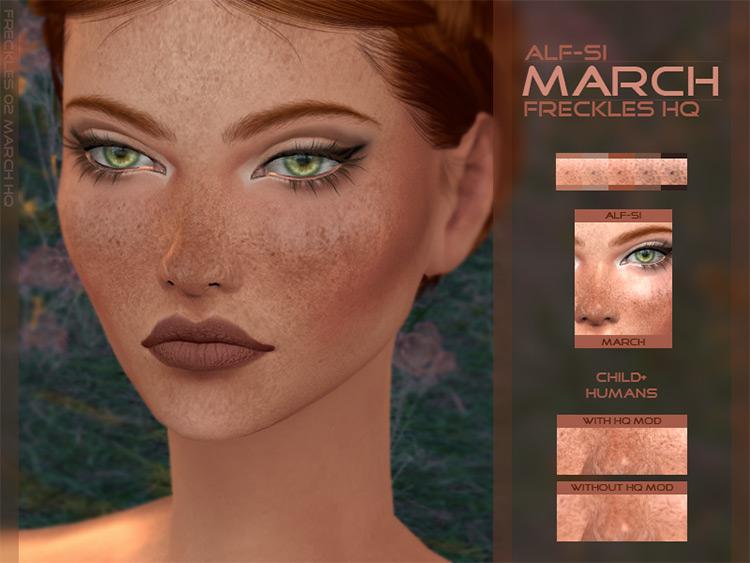 Face Freckles HQ / Sims 4 CC