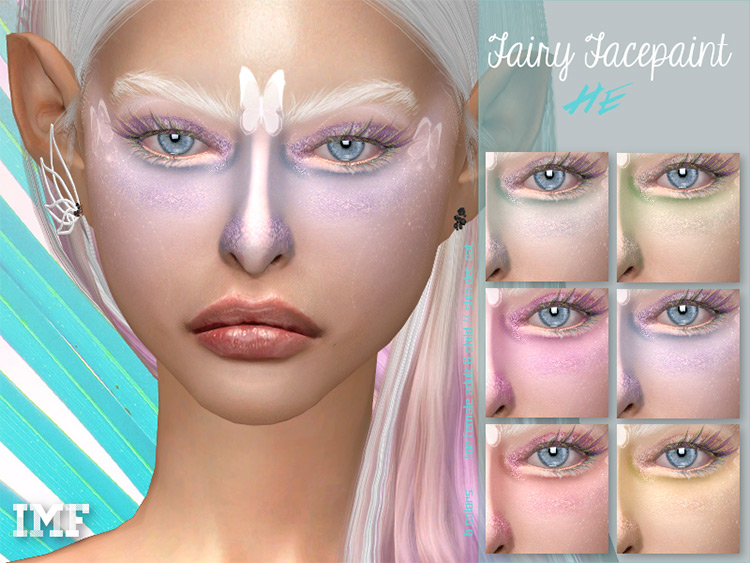IMF Fairy Facepaint for The Sims 4