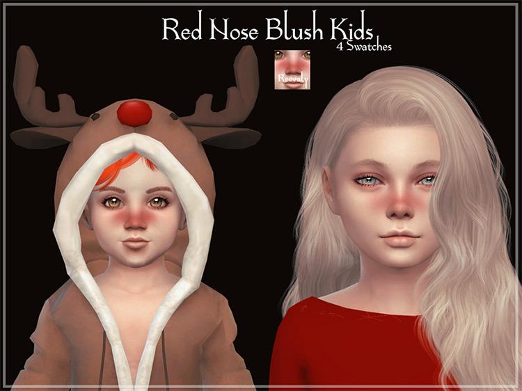 Red Nose Blush Kids / Sims 4 CC