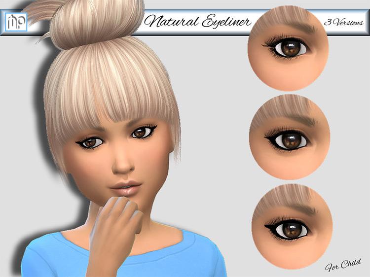 MP Natural Eyeliner for Children / TS4 CC