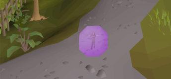 Purple sphere teleporting screenshot in OSRS