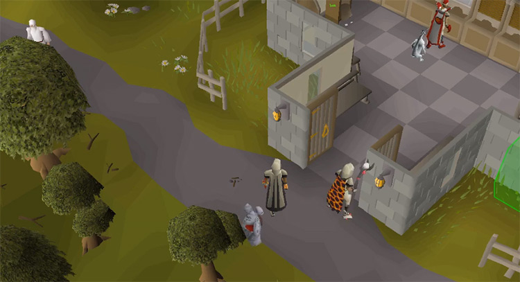 Camelot outside the bank in OSRS
