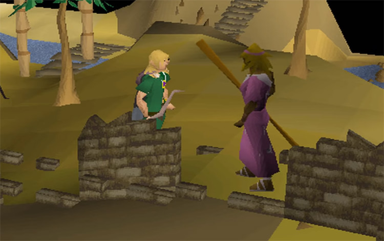 Tinsay building Tribal Statue in OSRS