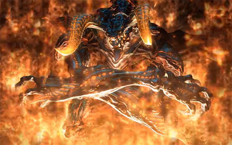 Ifrit cutscene screenshot from FFXIV