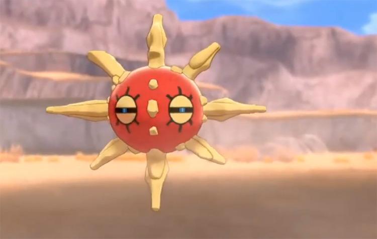 Shiny Solrock in Pokémon SWSH