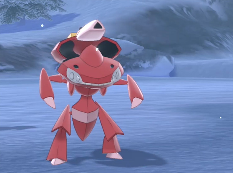 Shiny Genesect in Pokémon Sword and Shield