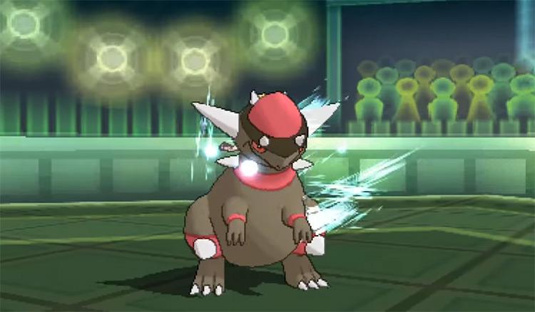 Shiny Rampardos from Pokémon Ultra Sun and Ultra Moon