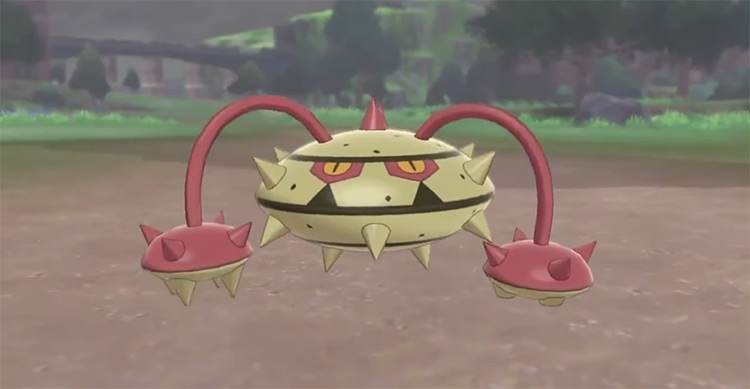 Shiny Ferrothorn in Pokémon SWSH