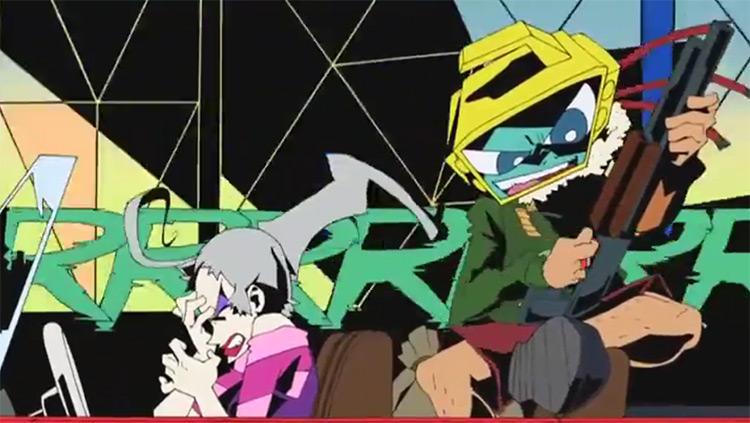 Dead Leaves anime screenshot