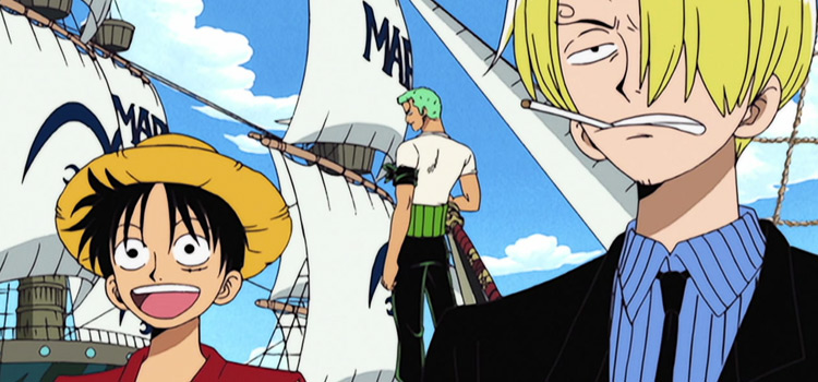 Luffy and Sanji from One Piece anime