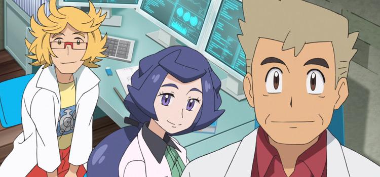 Professor Oak in Pokémon Journeys Anime