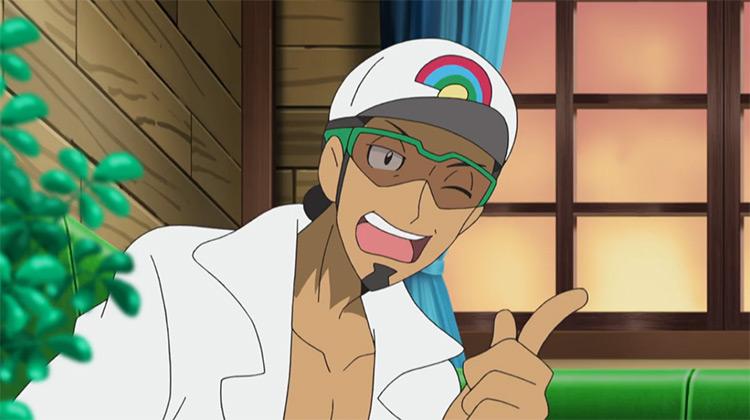 Professor Kukui Pokémon anime screenshot