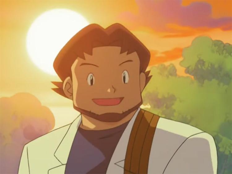 Professor Birch from Pokémon anime