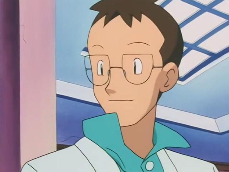 Professor Elm Pokémon anime screenshot