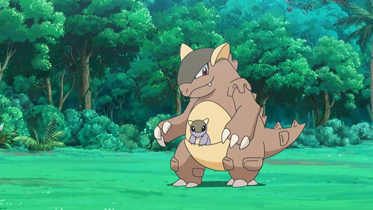 Kangaskhan Pokemon anime screenshot