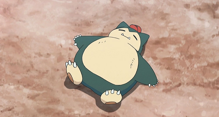 Snorlax Pokemon anime screenshot