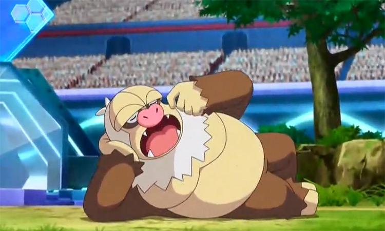 Slaking Pokemon anime screenshot