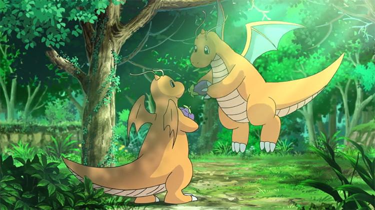 Dragonite Pokemon in the anime