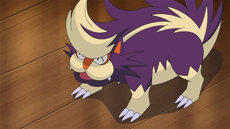 Skuntank Pokemon anime screenshot