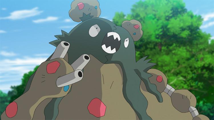 Garbodor Pokemon in the anime