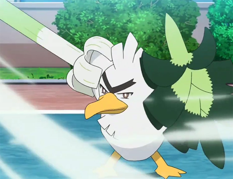 Sirfetch'd Pokemon in the anime