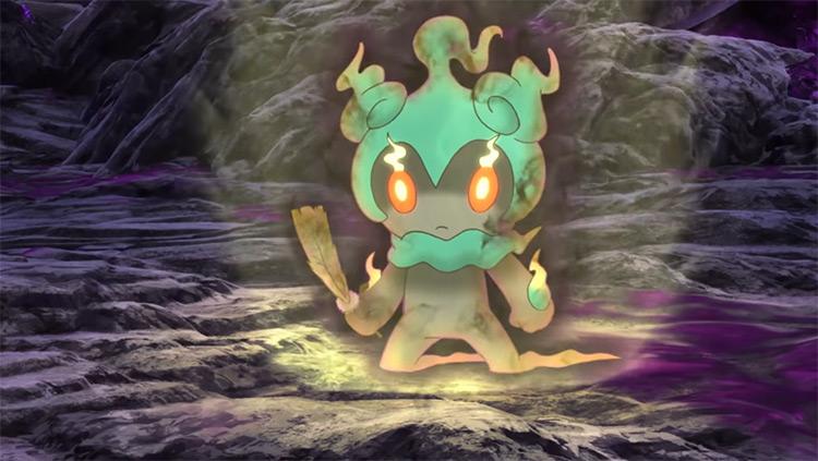 Marshadow Pokemon anime screenshot
