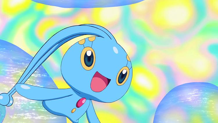 Manaphy Pokemon in the anime