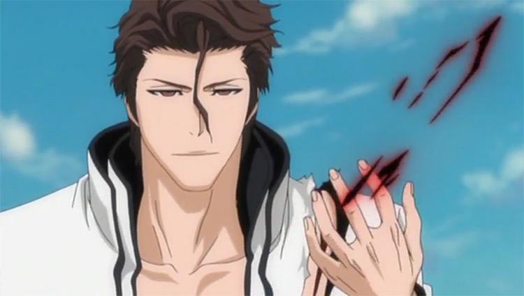 Aizen Sosuke Bleach anime screenshot