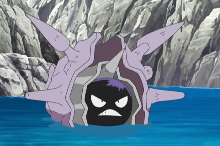 Cloyster Pokemon in the anime