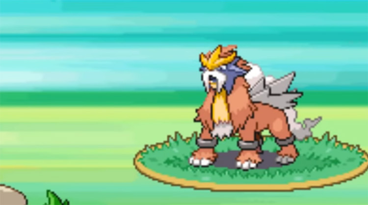 Shiny Entei from Pokémon Gold and Silver