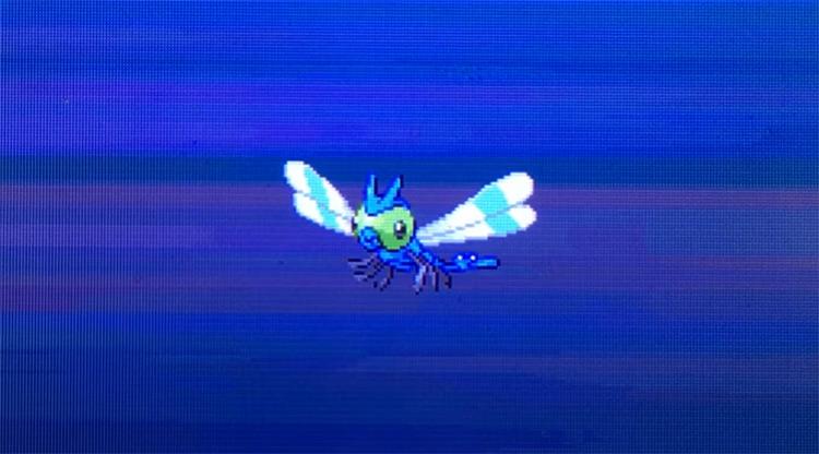 Shiny Yanma in Pokémon HGSS