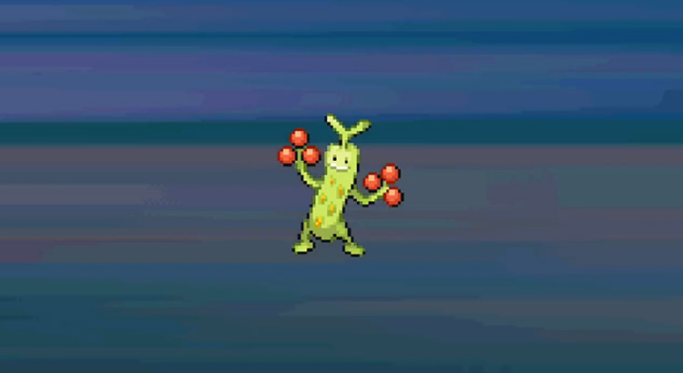 Shiny Sudowoodo in Pokémon HeartGold and SoulSilver