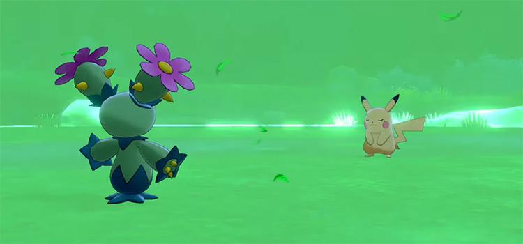 Grassy Terrain move in Pokémon SWSH
