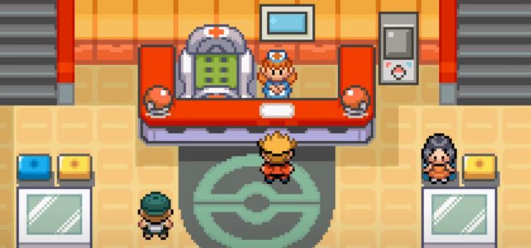 Pokemon Glazed ROM Hack - Pokecenter screenshot