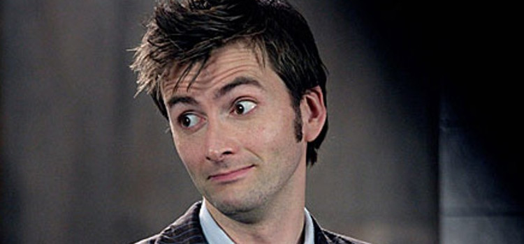 David Tennant as Doctor Who, side look