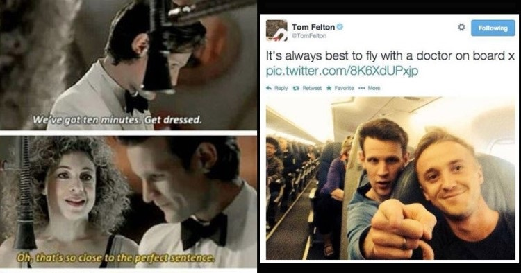 Its always best to fly with Doctor on board Dr Who
