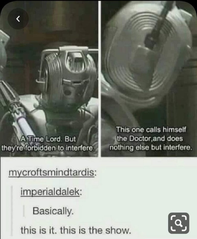 Basically this is the show, Dr Who meme